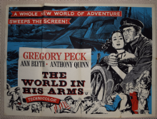 World in His Arms, Original UK Quad Poster, Gregory Peck, '52 Rare!
